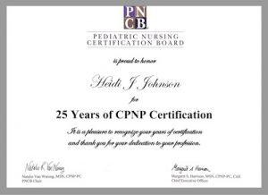 Heide's CPNP Certification